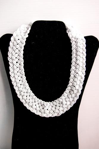 weaved white